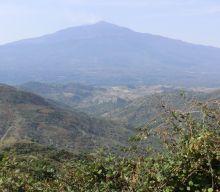Vulkan Aetna aus der Ferne