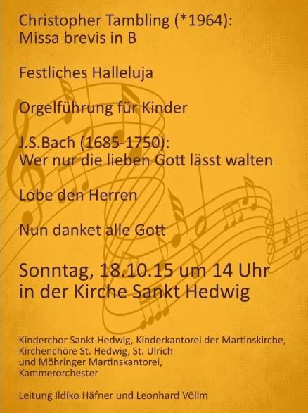 Plakat Missa brevis