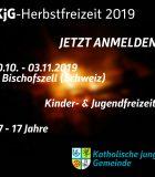 KjG Herbstfreizeit Flyer 2019